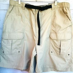 Croft & Barrow Cargo Shorts Sz 42 Khaki Nylon New